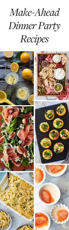 How to Host a Totally Make-Ahead Dinner Party, from Drinks to Dessert #purewow #dinner #recipe #entertaining #food