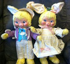 gund rubber face | Details about Vintage Gund Rubber Face Bunny Rabbits PAIR~Swedlin~E ...