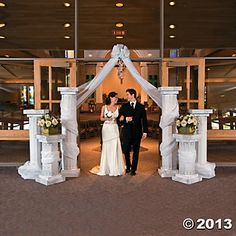 Wedding Columns & Gossamer Draping