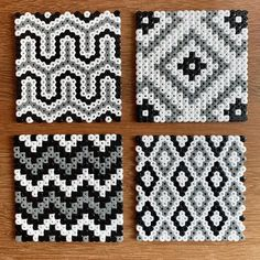Set of four Hama bead coasters painting templates Set of four Hama bead coasters . - Set of four Hama bead coasters Set of four Hama pearl coasters Hama Beads Coasters, Diy Perler Beads, Perler Bead Art, Pearler Beads, Hama Coaster, Easy Perler Bead Patterns, Melty Bead Patterns, Perler Bead Templates, Beading Patterns