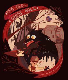 Over the Garden Wall: Chapter 1 – The Old Grist Mill Gravity Falls, Garden Wall Art, Over The Garden Wall, Garden Walls, Dark Fantasy, Chill, Illustrations, Steven Universe, Cartoon Network