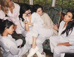 'Sister Sunday': Kendall shared her own image showing the girls curled up together before the rest of the guests turned up
