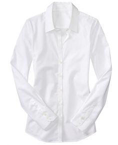 NEED a crisp white shirt with this collar...popped without being ...