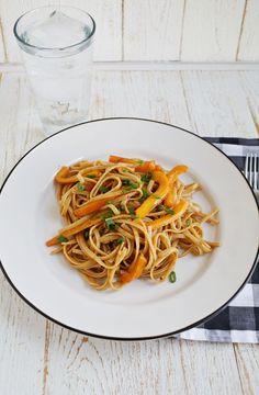 Spicy Peanut Noodles #recipe