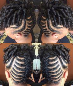 30 Beautiful Fishbone Braid Hairstyles for Black Women – Part 22 - Diy Hairstyles Natural Hair Braids, Pelo Natural, Natural Hair Updo, Natural Hair Styles, Cornrows, Twisted Hair, Flat Twist Updo, Braided Hairstyles For Black Women, Diy Hairstyles