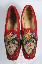 1870s Men's Beaded Slippers