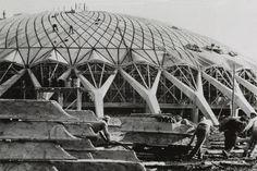 Pier Luigi Nervi e Annibale Vitellozzi, Palazzetto dello Sport a Roma (1956-57). Collezione MAXXI Architettura. Archivio Pier Luigi Nervi. Courtesy Fondazione MAXXI