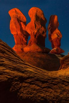 The Three Kings At Night - - Escalante Wilderness/Grand Staircase - Utah