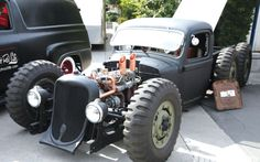 """Dodge 6x6 rat rod. Something that used to be able to go """"anywhere"""", now setting so low it probably can't get over a speed-bump without dragging..."""