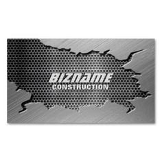 Brushed Metal With Mesh Grill Business Card. I love this design! It is available for customization or ready to buy as is. All you need is to add your business info to this template then place the order. It will ship within 24 hours. Just click the image to make your own!