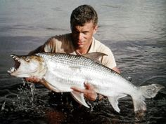 Jeremy Wade, 22 Years young with his first Goliath Tigerfish Jeremy Wade, John Wade, River Monsters, Sea Monsters, Cat Boarding, Wildlife, Fish, Image, Rhodes