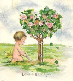Loves Gardener Charming Romantic Vintage by TheOldBarnDoor on Etsy