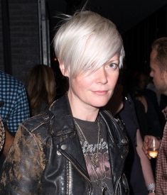 the hair, the leather jacket, the vintage tee - Kate Lanphear