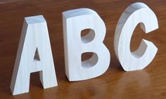 Free Standing Wooden Letter – Unfinished Solid Wood Letters – Alphabet