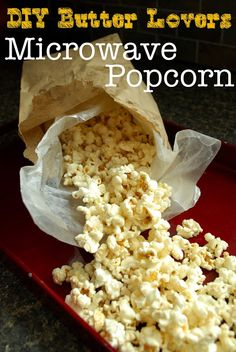 This is so cool! DIY microwave popcorn. No stove needed but still made from scratch