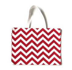 Red  Chevron Tote Bag red  Shoulder Bag Red  Beach by ScarfTempo