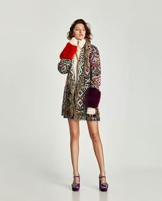 ZARA - WOMAN - EMBROIDERED JACQUARD COAT