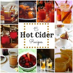 15 hot cider recipes