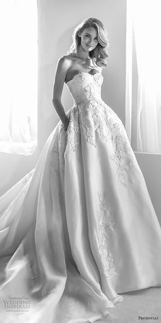 atelier pronovias 2018 bridal strapless semi sweetheart neckline heavily embellished bodice princess ball gown wedding dress with pockets royal train (20) mv -- Atelier Pronovias 2018 Wedding Dresses