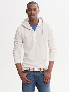 Banana Republic | Waffle-Knit Hooded Pullover