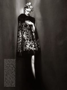 """And High Fashion"" Saskia De Brauw by Paolo Roversi for Vogue Italia March 2015"