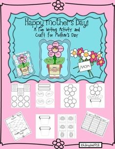 Happy Mothers Day!A Fun Writing Activity, Conventions of Language and Craft for Mothers DayYour students will love making this fun writing activity and craft that integrates opinion writing, science and conventions of language for Mothers Day!Children will enjoy planting the seeds, that you will include with the project, with their families and feel so proud watching them grow.