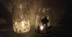 Jak vyrobit zimní svícen ze starých sklenic