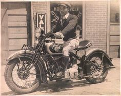 Indian Scout Motorcycle Rider. A True Cl       Indian Scout