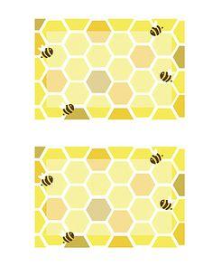 Free bee printables