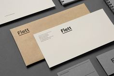 Sydney based residential architect, Scott Flett, describes his work as minimalist yet elegant, with a tendency towards crafted and natural materials. The design studio ATHLETE were engaged to develop a brand identity that conveyed his aesthetic, doing so through the construction of a simple, bold wordmark, selection of paper stocks and a neutral colour palette.