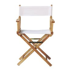 Beau White Directoru0027s Chair Cover
