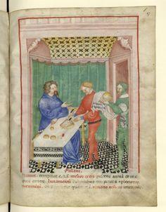 Nouvelle acquisition latine 1673, fol. 67, Aliment: faisan. Tacuinum sanitatis, Milano or Pavie (Italy), 1390-1400.