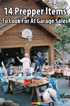 Prepping doesn't have to cost a lot of money when you know how to look for bargains. Garage sales are a great place to scoop up items you might need.