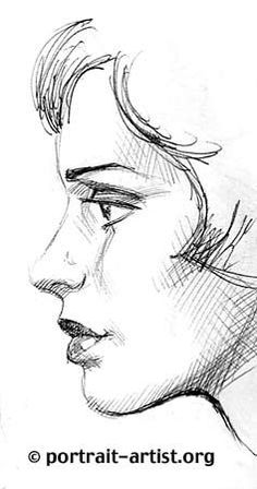how to draw profile - girl