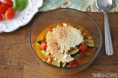 White Bean, Zucchini and Tomato Soup @SheKnows #MeatlessMonday