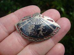 Vintage Siam Silver Brooch.