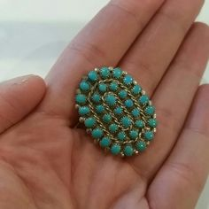 Zuni Sterling/Turquoise Needlepoint Pendant/Pin Not signed or hallmarked, but it is Sterling Silver and has been tested and it is real Zuni. Can be worn as a pendant or a pin. Vintage Jewelry