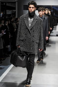 Fendi: Another huge coat to swallow you up. I like it. Check out the shearling bag also.