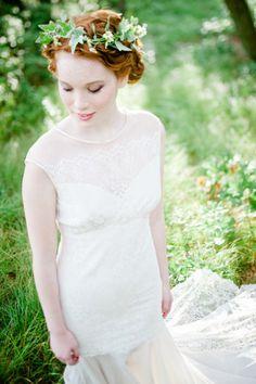 Vestido de novia de inspiración romántica.