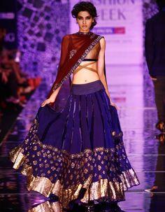ethnic attire with ghagra choli