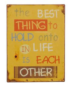 The Best Thing to Hold Onto