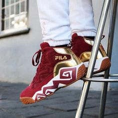 """26 Likes, 1 Comments - Fila South Africa (@fila_rsa) on Instagram: """"• MB'S • The cult classics MB's in Tawny Gold!  cred to the dope dudes at @shelflifestore…"""""""