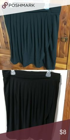 "Gypsy Tulip Pleated Skirt Black with soft pleats, tulip style skirt. Stretchy and very soft. Cute with boots or your favorite heels.  Length 22"". Gypsy Skirts"