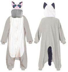 Grumpy Cat Costume Hooded Kigurumi One Piece Pajama