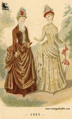 1885 Women's Fashion, Painting, Art, Art Background, Fashion Women, Womens Fashion, Painting Art, Kunst