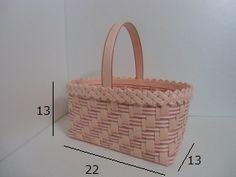 「バッグ」で作り方をマスター!~あじろ編み~かご