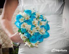 Buque de rosa azul. Buque azul. Bridel blue bouquet wedding.