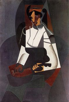 Woman with a Mandolin (after Corot), 1916 Juan Gris