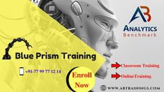 Need Blue Prism Training? Now Get Back To Analytics Benchmark Trainings With Both Online And Classroom Training  Quick Enroll: https://bit.ly/2rbjBBO