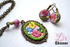 Colours of spring  necklace and earring by livekszer on Etsy, Ft6490.00